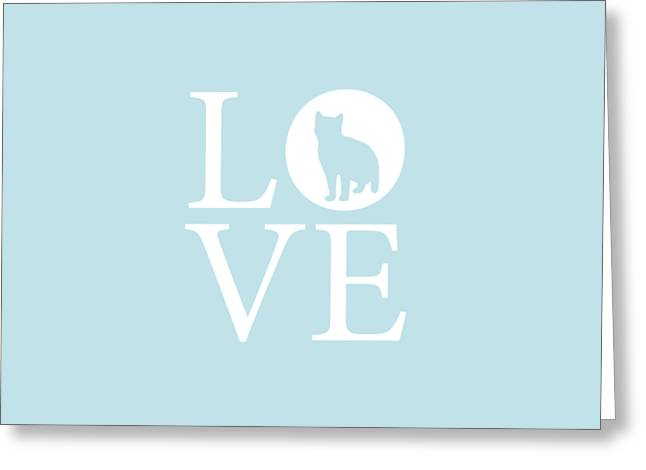 American Shorthair Greeting Cards - Cat Love Greeting Card by Nancy Ingersoll