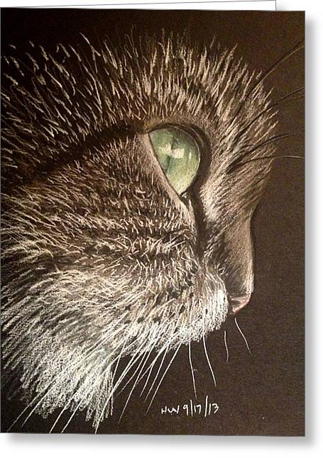 Cute Kitten Pastels Greeting Cards - Cat profile Greeting Card by Holly Whiting
