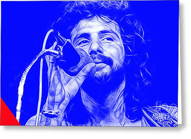 Pop Singer Greeting Cards - Cat Stevens Collection Greeting Card by Marvin Blaine