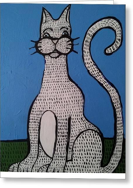Bill Cat Greeting Card by William Douglas