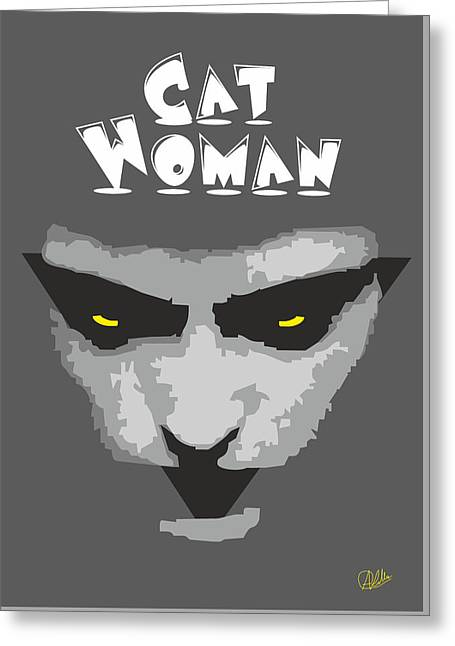 Tasteful Digital Greeting Cards - Cat Woman Greeting Card by Joaquin Abella