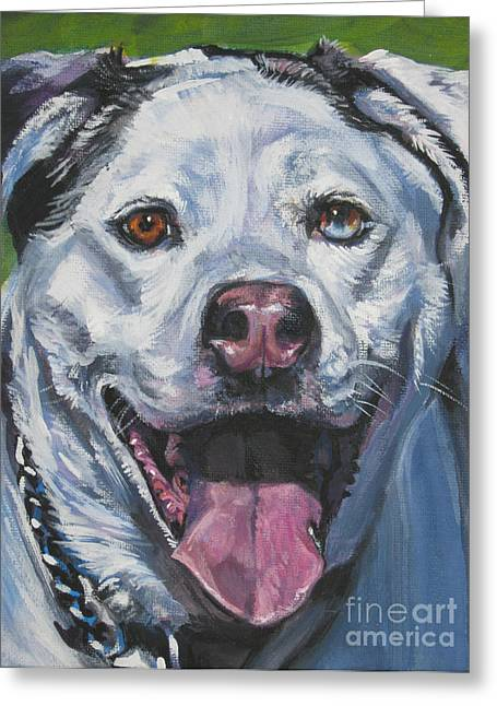Catahoula Greeting Cards - Catahoula Leopard Dog Greeting Card by Lee Ann Shepard