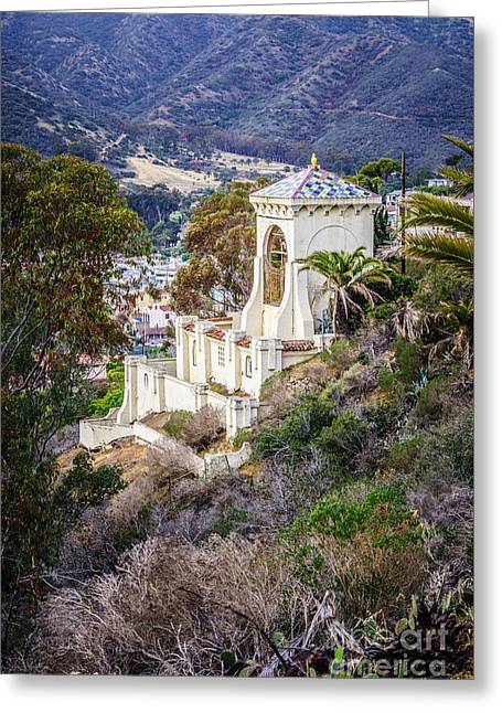 Chimes Greeting Cards - Catalina Chimes Tower on Catalina Island Greeting Card by Paul Velgos