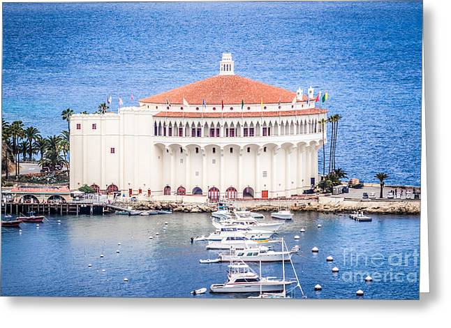 Movie Theater Greeting Cards - Catalina Island Casino Picture Greeting Card by Paul Velgos