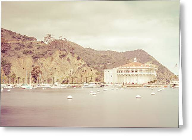 Theater Greeting Cards - Catalina Island Panorama Picture of Avalon Bay Greeting Card by Paul Velgos