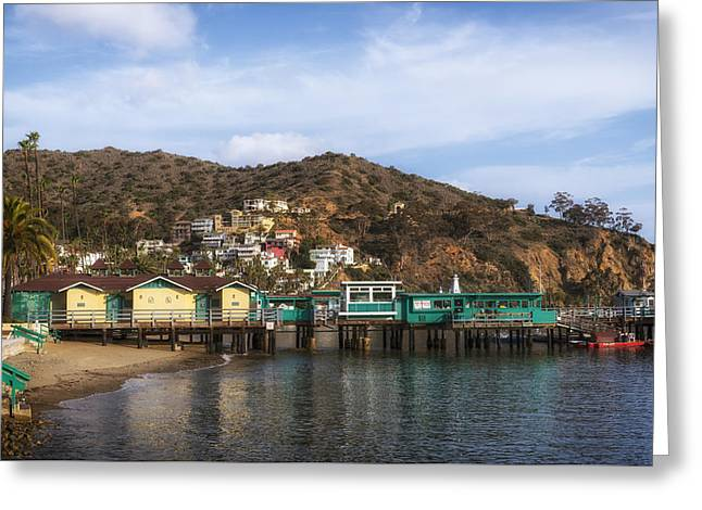 Bath House Greeting Cards - Catalina Island Pier Greeting Card by Mountain Dreams