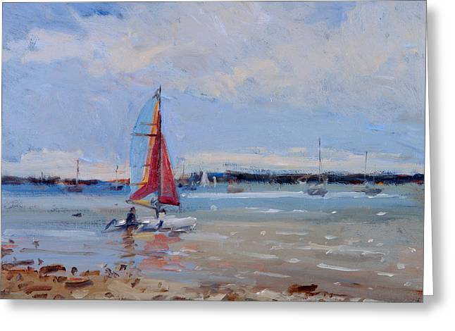 Catamaran  Brittany Greeting Card by Christopher Glanville