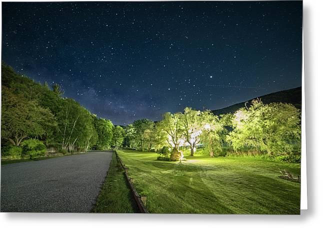 Catamount Milky Way Greeting Card by R Scott Sherman