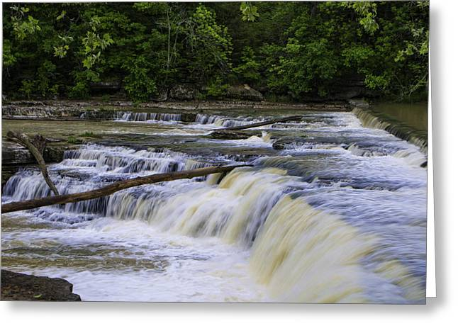 Cataract Falls Phase 1 Greeting Card by Phyllis Taylor