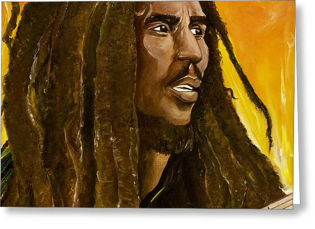 Dreads Greeting Cards - Catch a Fire Greeting Card by Ikahl Beckford