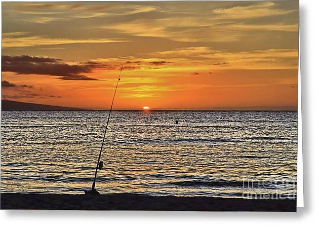 Lahaina Greeting Cards - Catch of the Day Greeting Card by DJ Florek