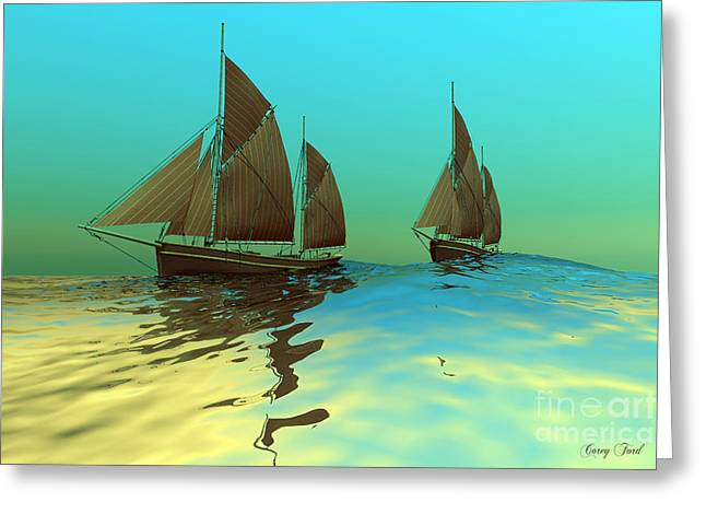 Gusts Greeting Cards - Catch The Wind Greeting Card by Corey Ford