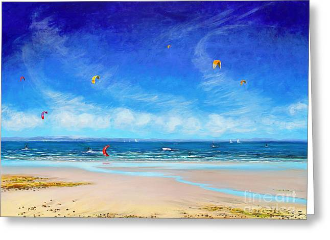Kite Greeting Cards - Catch the Wind Greeting Card by Sandra  Francis