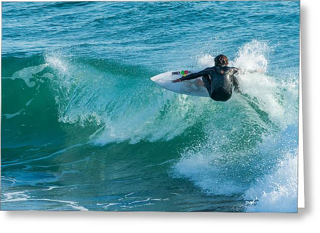United States Greeting Cards - Catching A Wave Greeting Card by Duane Miller