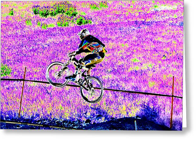 Catching Air Greeting Card by Peter  McIntosh