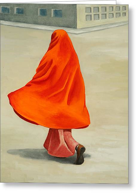 Burkas Greeting Cards - Catching the Wind Greeting Card by Joan Engelmeyer