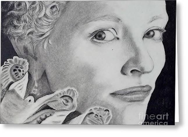 Cate Blanchett As The Virgin Queen Greeting Card by Lise PICHE