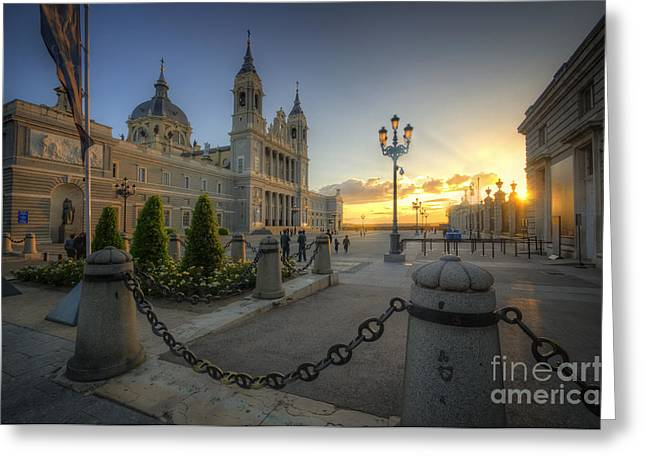 Catedral De La Almudena Greeting Card by Yhun Suarez