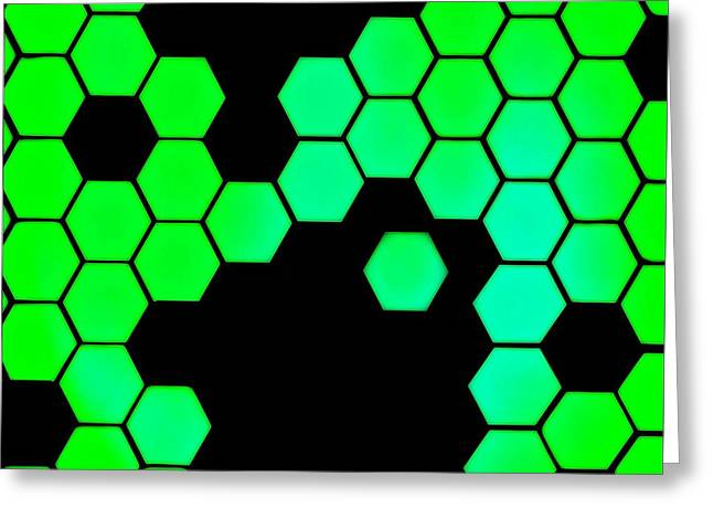 Biochemical Digital Greeting Cards - Catenae One Greeting Card by Randolph Ping