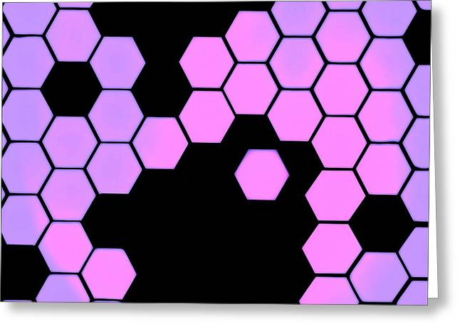 Biochemical Digital Art Greeting Cards - Catenae Three Greeting Card by Randolph Ping