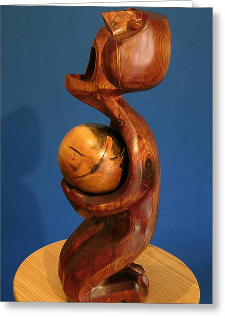 Expressionist Sculptures Greeting Cards - Catharsis Greeting Card by Windy Dankoff