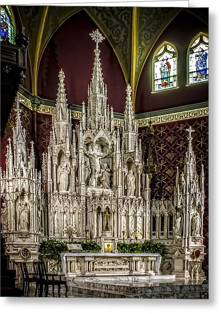 Cathederal Altar Greeting Card by F Leblanc