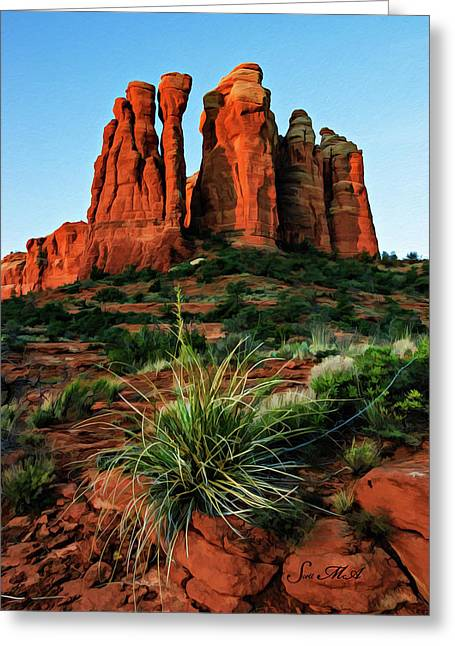 Cathedral 06-063 Greeting Card by Scott McAllister