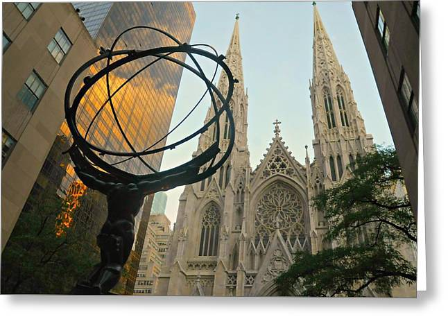 Cathedral And Sphere Greeting Card by Diana Angstadt