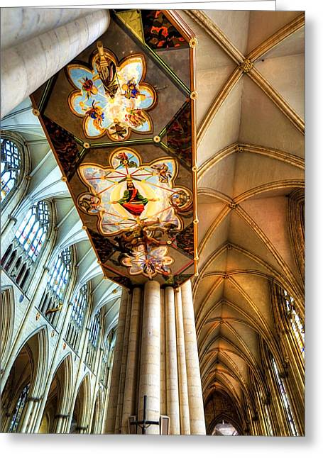 Soaring Tower Greeting Cards - Cathedral Architecture 04 Greeting Card by Svetlana Sewell