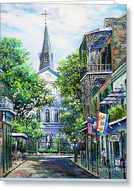 Vieux Carre Greeting Cards - Cathedral at Orleans Greeting Card by Dianne Parks