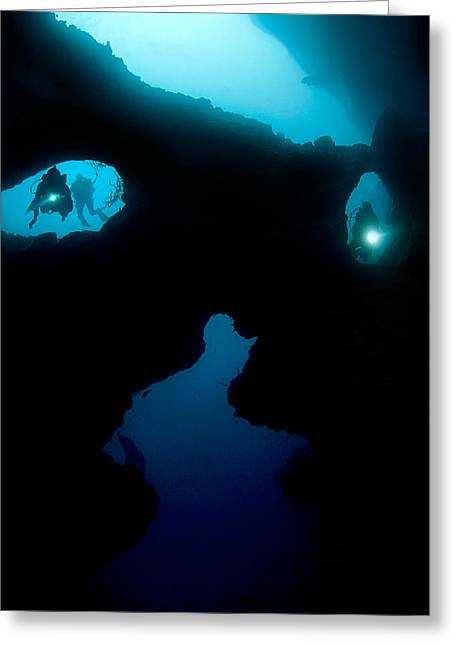 Mystic Photographs Greeting Cards - Cathedral At Pescador Island Greeting Card by Henry Jager