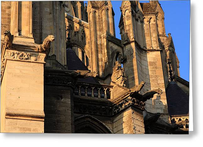 Catholic Art Greeting Cards - Cathedral Basilica of Our Lady of Amiens Greeting Card by Aidan Moran