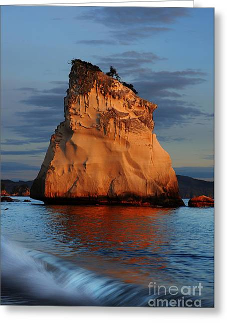 Cathedral Rock Greeting Cards - Cathedral Cove New Zealand Greeting Card by Colin Woods
