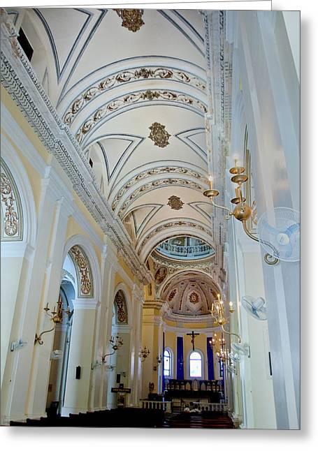 San Juan Bautista Greeting Cards - Cathedral de San Juan Bautista Greeting Card by Gary Little