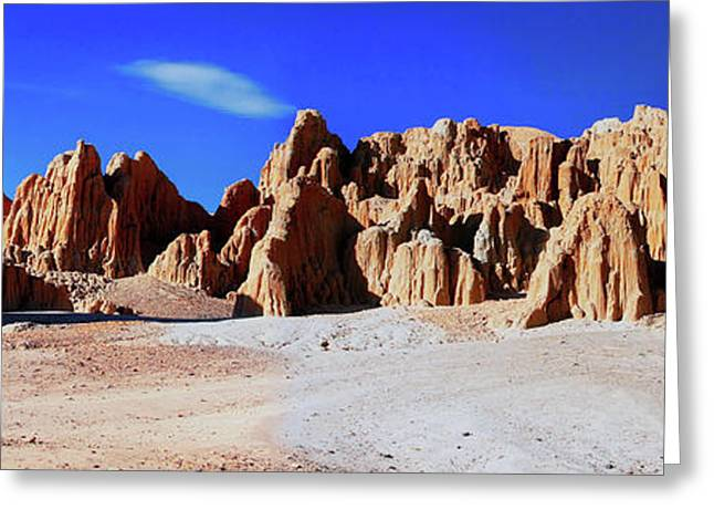 Cathedral Rock Greeting Cards - Cathedral Gorge S.P. Greeting Card by William Gillam