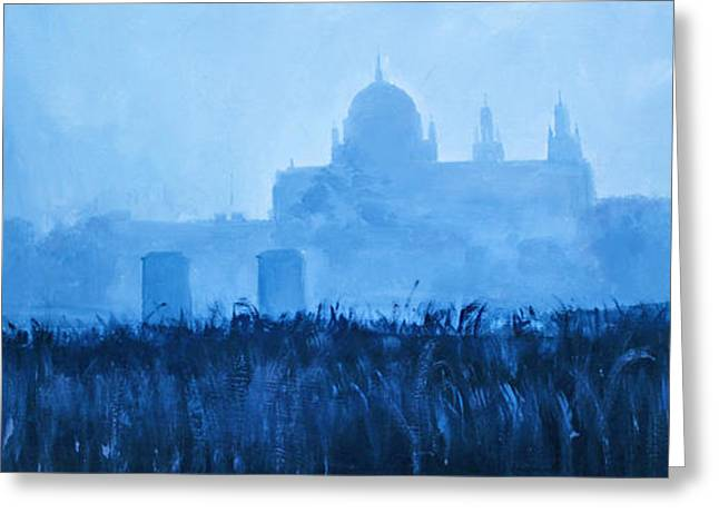Royal Art Greeting Cards - Cathedral In The Mist Greeting Card by Conor McGuire