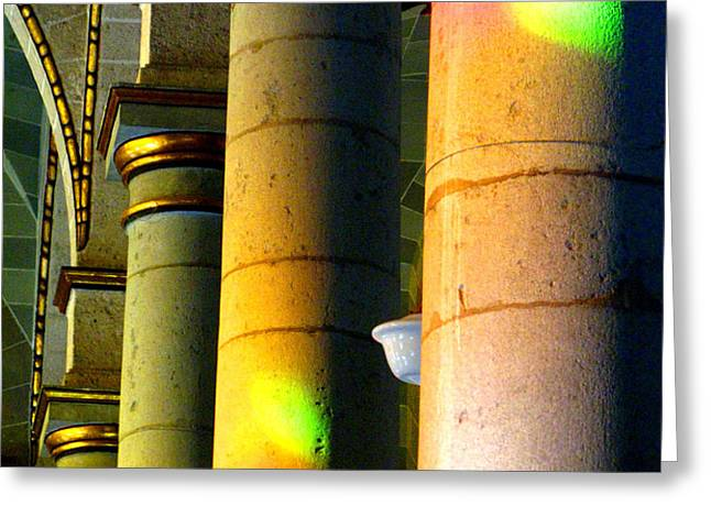 Cathedral Light by Michael Fitzpatrick Greeting Card by Olden Mexico