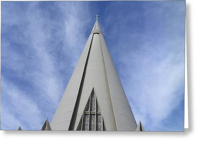 Cathedral Minor Basilica Our Lady Of Glory Greeting Card by Bruna Lima