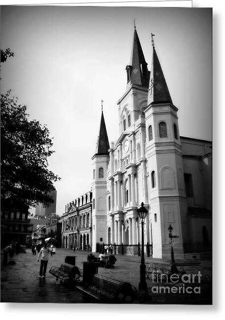 Best Sellers -  - Historic Statue Greeting Cards - Cathedral Morning 2 Greeting Card by Perry Webster