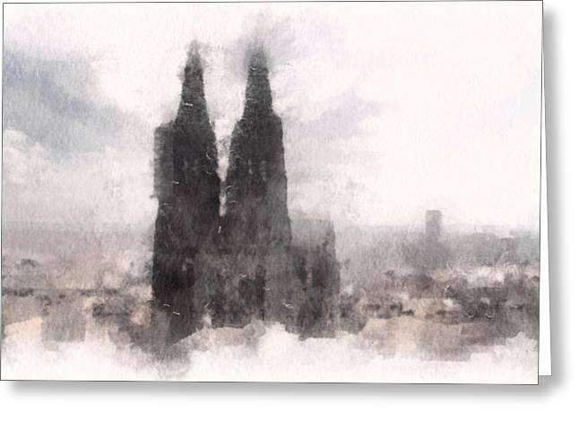Deutschland Greeting Cards - Cathedral of Cologne Greeting Card by Susan Maxwell Schmidt