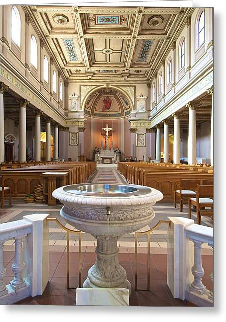 Incarnation Greeting Cards - Cathedral of Incarnation Greeting Card by Patrick Hart
