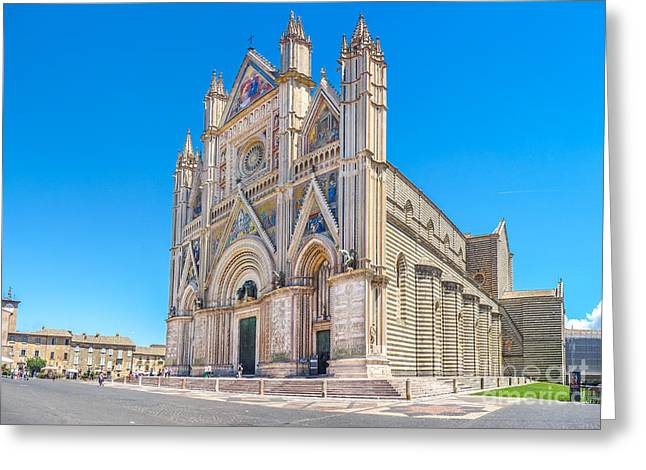 Orvieto Greeting Cards - Cathedral of Orvieto, Duomo di Orvieto, Umbria, Italy Greeting Card by JR Photography
