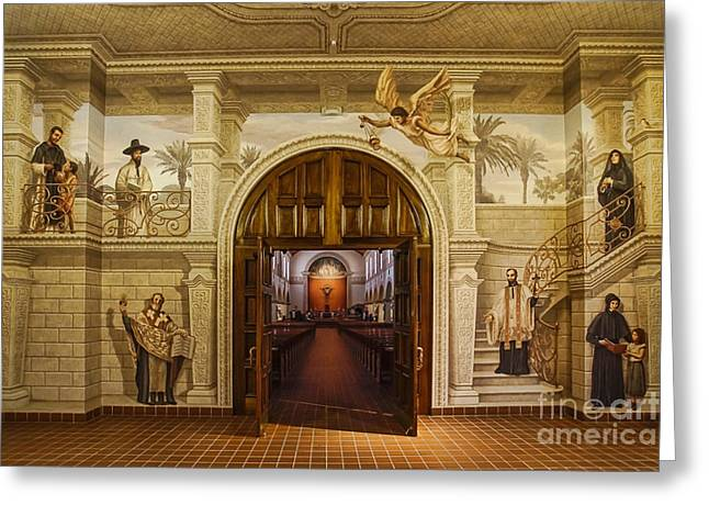 Entrance Door Greeting Cards - Cathedral of Saint Augustine Greeting Card by Priscilla Burgers