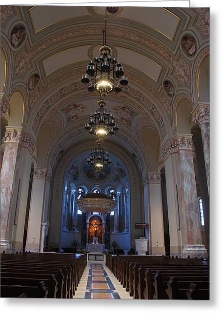 Catholic Greeting Cards - Cathedral of Saint Joseph  Greeting Card by Sheela Ajith