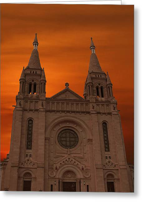 Cathedral Of Saint Joseph Sioux Falls Greeting Card by Art Spectrum