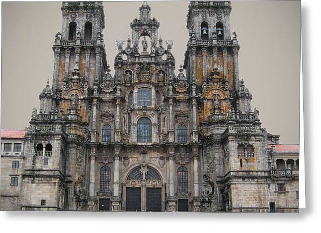 Cathedral of Santiago de Compostela Greeting Card by Jasna Buncic
