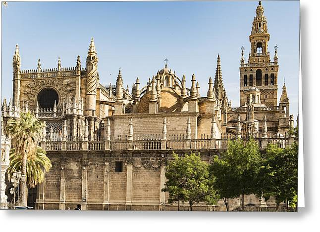 Cathedral Of Seville - Spain Greeting Card by Jon Berghoff