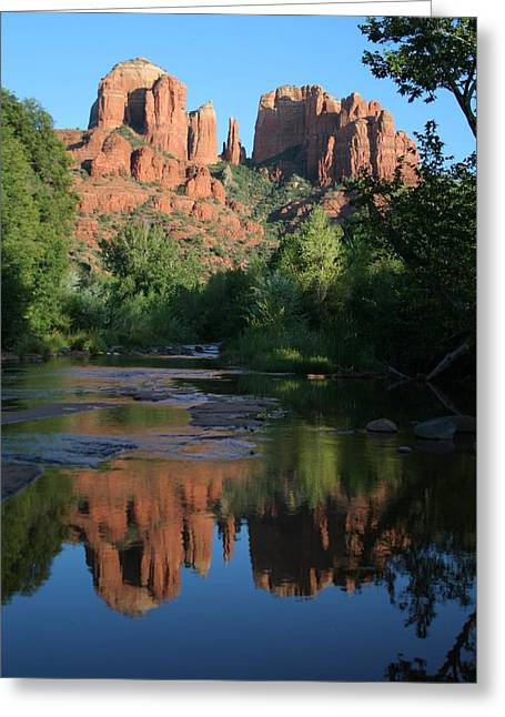Cathedral Rock Greeting Cards - Cathedral Reflections Greeting Card by Jimmy Fox