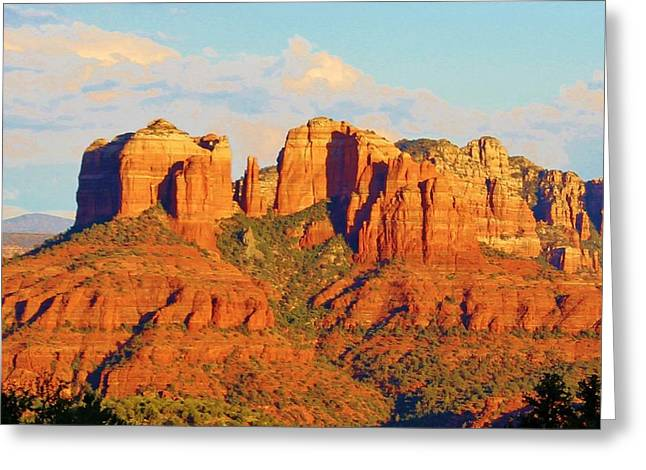 Cathedral Rock Greeting Cards - Sedona Cathedral Rock Landscape Greeting Card by Edward Dobosh