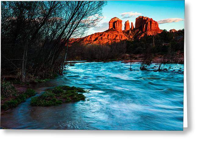Oak Creek Greeting Cards - Cathedral Rock 5 Greeting Card by Ben Graham